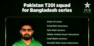 Pakistan Cricket Team Squad For Bangladesh T20Is Named